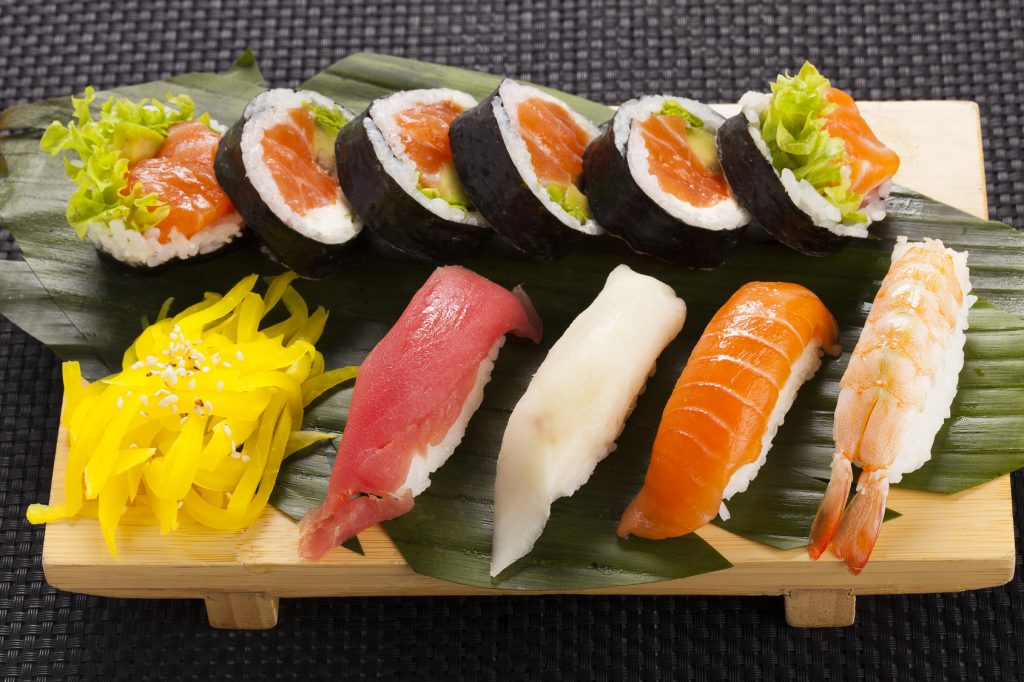 The composition of nigiri sushi