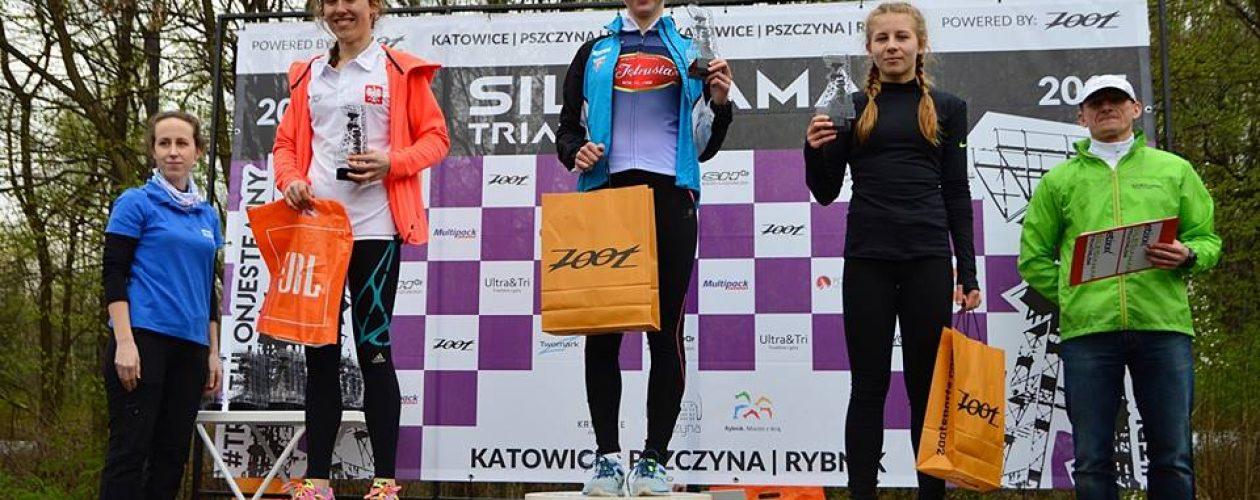 Pierwsze miejsce wKatowickim duathlonie Aleksandry Sikora.