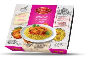 Kurczak w sosie curry z ryżem