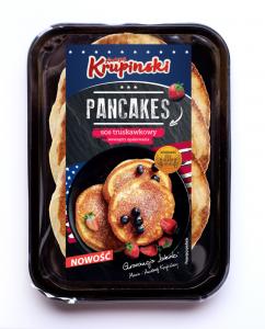 Pancakes zsosem truskawkowym